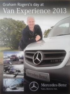 mercedes benz van experience 2013